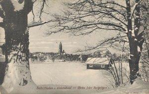 Sweden Stockholm Saltsjöbaden i vinterskrud Motiv från Ringvägen 03.10
