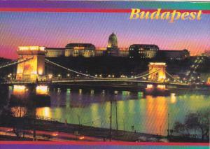 Hungary Budapest Panorama At Night