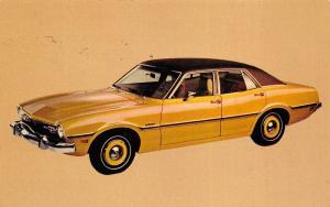 1973 Ford Maverick 4-door Sedan Advertising Postcard Detroit Michigan