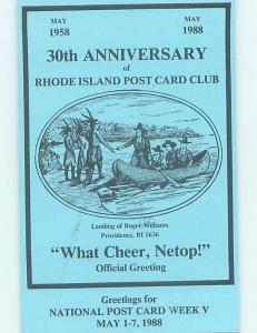 1980's POSTCARD SHOW Providence Rhode Island RI H9304