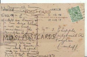 Genealogy Postcard - Chapple - 14 Ladysmith Road - Penylan - Cardiff - Ref 8954A