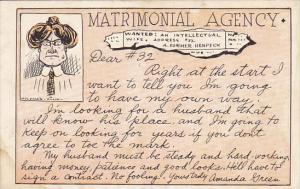 Humour Matrimonial Agency Dear #32