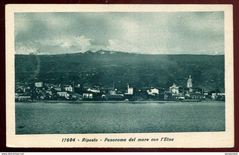 dc930 - ITALY Riposto 1910s Panorama dal Mare con l'Etna. Sicily