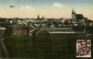 czech germany, IGLAU JIHLAVA, Panorama (1924) Postcard