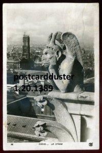 1389 - FRANCE Paris 1935 Notre Dame Stryge Gargoyle Chimera. Real Photo Postcard