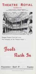 Fools Rush In Kenneth Horne Rare Theatre Royal Margate Kent Programme