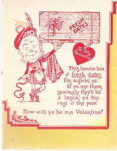 Valentine - Scotsman with 1932 Calendar