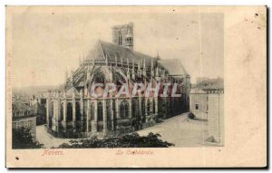 Old Postcard Nevers La Cathedrale