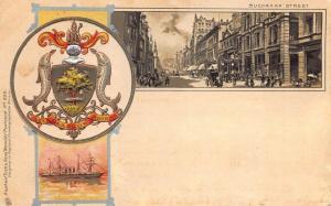 Glasgow Scotland Buchanan Street & Ship in 1902, Raphael Tuck Postcard