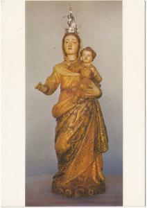 NOSSA SENHORA DA LUZ, Madeira policromada e dourada. Sec. XVII, unused Postcard