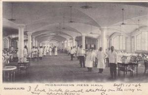 Mess Hall at Naval Academy - Annapolis MD, Maryland - pm 1906 - UDB