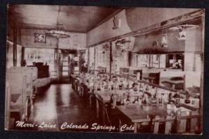 CO Merri Laine Restaurant COLORADO SPRINGS Postcard PC