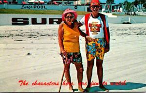 Florida Daytona Beach Old Couple On The Beach 1978
