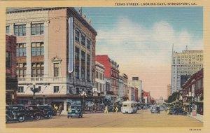 Louisiana Shreveport Texas Street Looking East Curteich sk2348