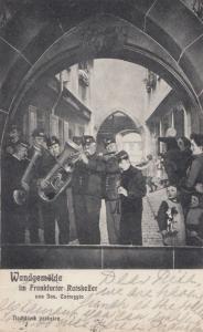 German Brass Band Old Postcard