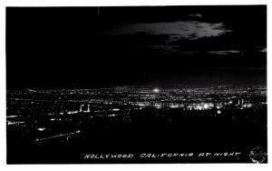 California  Hollywood  at night