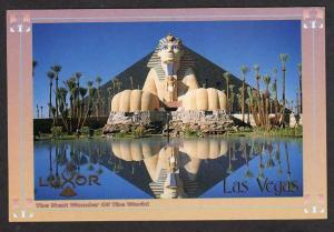 NV Luxor Hotel Casino LAS VEGAS NEVADA Sphinx Postcard