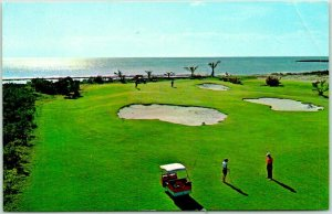 Vintage Bahamas Postcard GRAND BAHAMA HOTEL & Country Club / Golf Course View