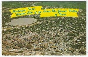 Harlingen, Texas, Vintage Postcard Showing a Birds-eye View