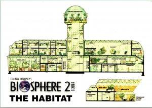 Biosphere 2 Center Diagram Oracle Arizona AZ Vtg Continental Size Postcard UNP