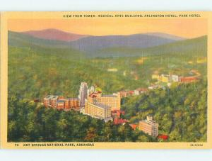 Unused Linen ARLINGTON HOTEL Hot Springs National Park Arkansas AR Q6862
