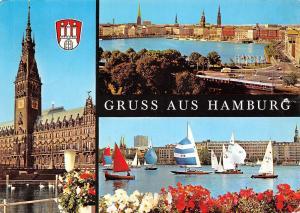 Germany Gruss aus Hamburg multiviews General view Rathaus City Hall