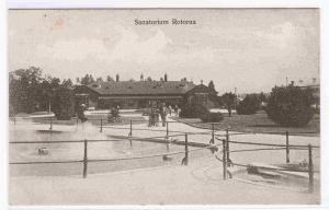 Sanatorium Rotorua New Zealand 1910c postcard