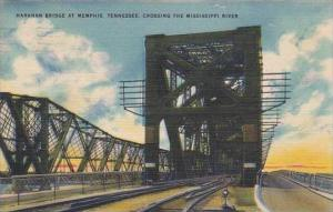 Tennessee Memphis Harahan Bridge At Memphis Crossing The Mississippi River 1945