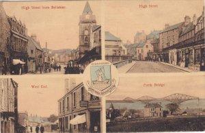 South Queensferry , UK, 1900-1910s; 4-Views, High Street From Bellstane, High...