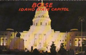 State Capitol Building At Night Boise Idaho