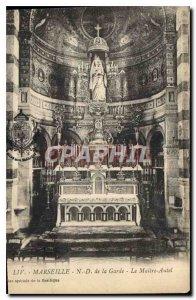 Postcard Old Marseille N D Guard Master The Altar