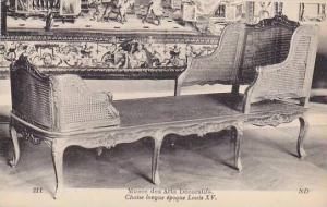Musée des Arts Décoratifs, Interior, Chaise Longue Epoque Louis XV, Paris, ...