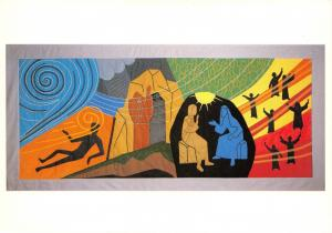 Postcard St Albans Cathedral, Elements in Salvation Tapestry, Wind & Spirit #649