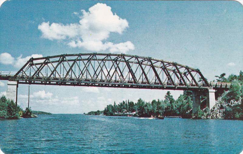 Sioux Narrows Bridge, Longest Single-Span Wooden Bridge in World, SIOUX NARRO...