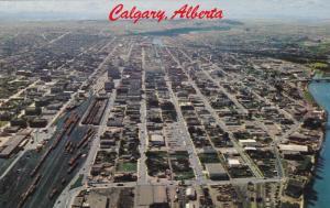 CALGARY, Alberta, Canada, 40-60's; Aerial View