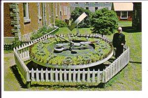 Flower Clock, Huron County Pioneer Museum, J H Neil Stands Beside It, Goderic...