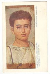 Portrait panel from Mummy, Egyptian, II Century AD, 00-10s