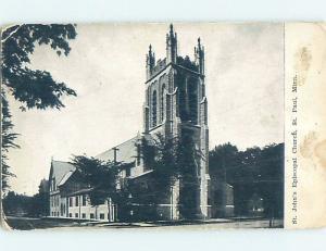 Divided-Back CHURCH SCENE St. Paul MN ho4809