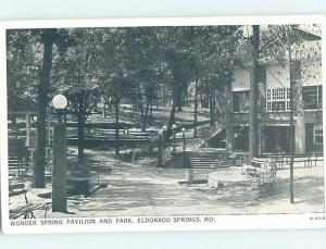 1940's PARK SCENE El Dorado Springs - Near Nevada Missouri MO H4031