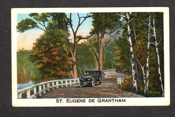 PQ Car on road St Saint Eugene de Grantham Quebec Carte Postale Postcard Canada