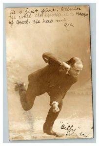 Vintage 1909 RPPC Postcard Spokane Washington Actor Story of Pythia