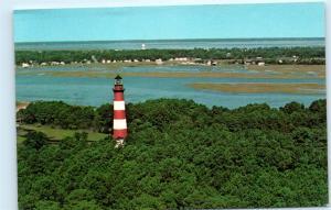 *Chincoteague National Wildlife Refuge Island Assateague Lighthouse Postcard B33