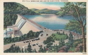TENNESSEE, 1930-40s; T.V.A. Norris Dam and Lake on Clinch River