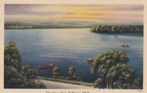 Michigan Greetings From Bellevue 1944