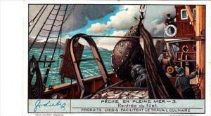 Liebig S1297 North Sea Fishing No 3 Rentree du filet