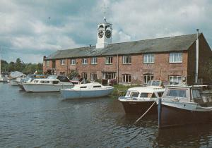 The Clock Warehouse at Staffordshire Worcs Canal Boats Postcard