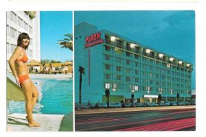 Tucson AZ Plaza International Hotel Bathing Beauty Swimming Pool Postcard