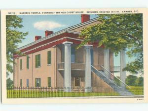 Unused Linen COURT HOUSE Camden South Carolina SC n4577