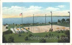 Tennis Postcard  Petoskey's Municipal Play Ground