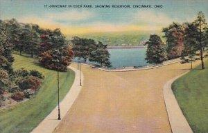 Driveway In Eden Park Showing Reservoir Cincinnati Ohio